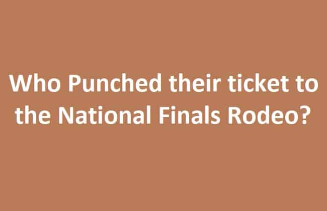 NFR Tickets